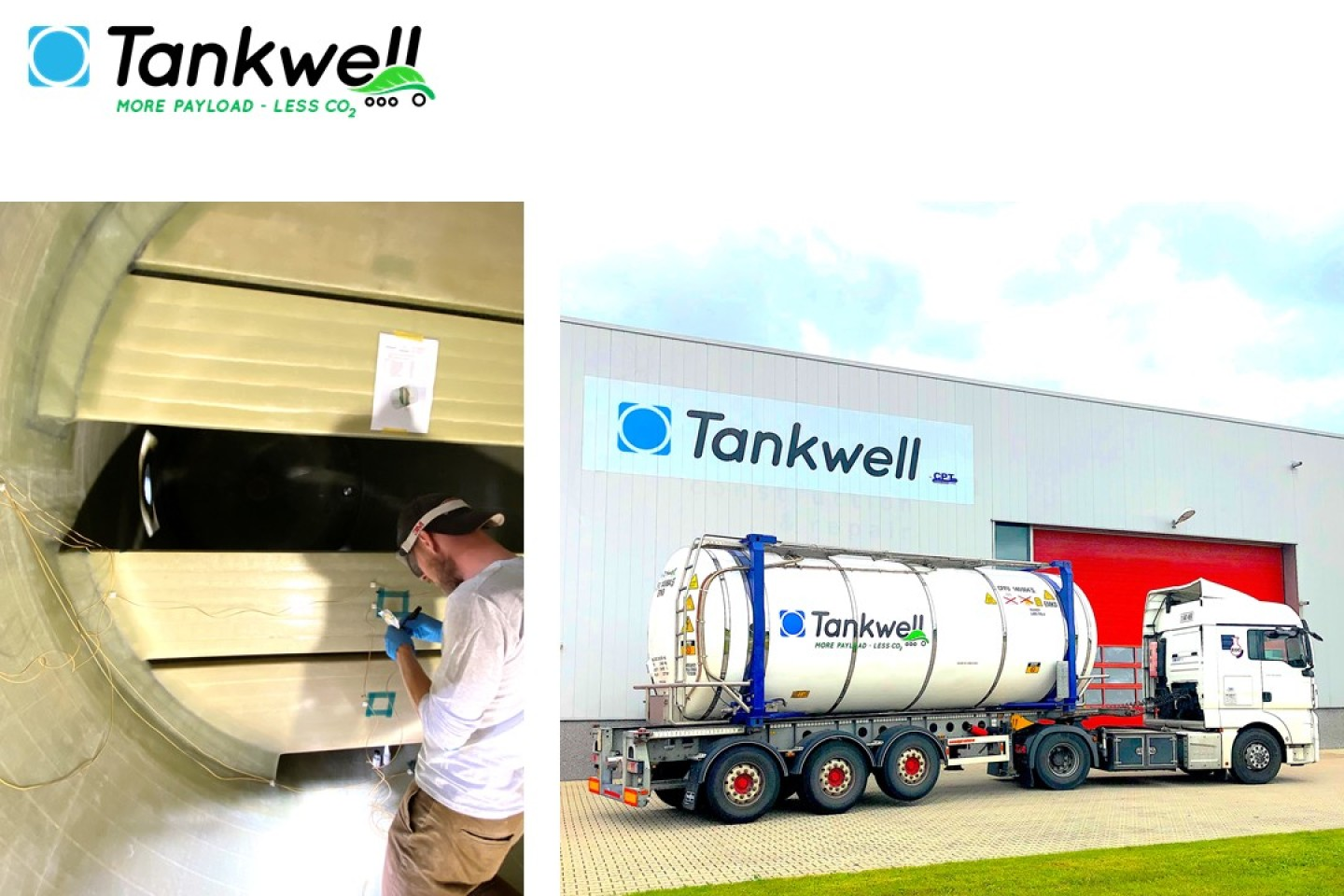 Test program baffles Tankwell lightweight tank containers