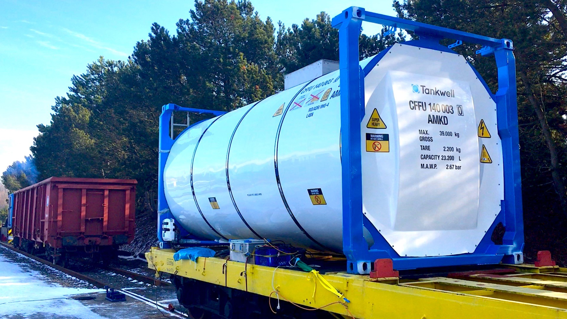 Final test of Tankwell ISO tank container completed