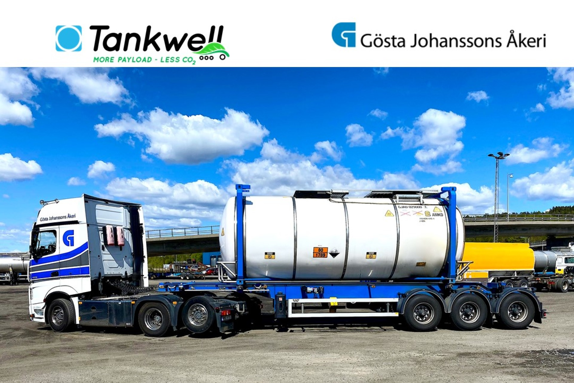 Tankwell tank container dedicated for Hydrochloric Acid